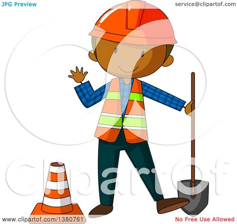royalty free building contractor clip art vector images clipart of a black male construction worker holding a