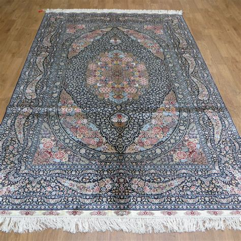 silk rug traditional area rug living room accent