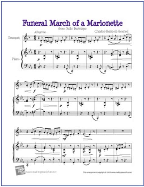 Home Plans Free Online funeral march of a marionette free easy trumpet sheet music