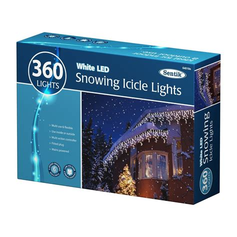 snowing icicle outdoor lights white led christmas snowing icicle bright outdoor lights