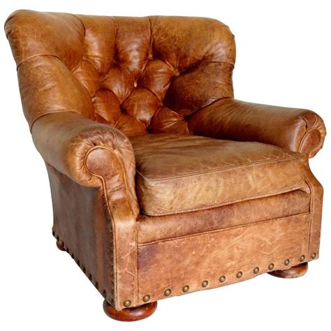 ralph leather chair ralph distressed writers leather club chair at 1stdibs