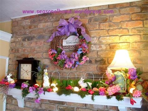 deco ideas 43 stylish easter mantel decorating ideas digsdigs