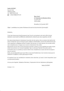 exemple de lettre de motivation steward h 244 tesse d accueil