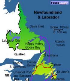 newfoundland map on transcanadahighway