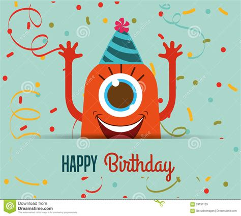 happy birthday card design vector illustration happy birthday card design stock vector image 63136129
