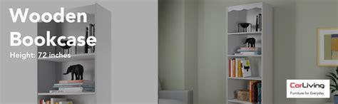 sonax hawthorn 48 inch bookcase white amazon com sonax hawthorn 72 inch bookcase