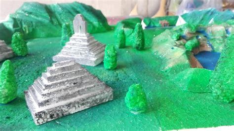 imagenes de maquetas mayas maqueta de ruinas mayas suscribete youtube