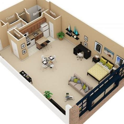 studio apartment 3d floor plans studio apartment 3d floor plan google search navy hot