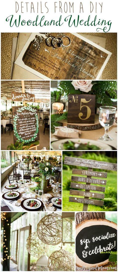 Details from a DIY Woodland Wedding   unOriginal Mom