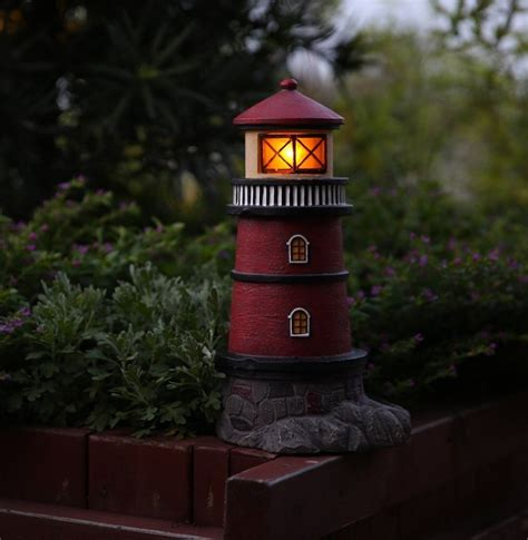 statue with solar light solar lighthouse garden statue outdoor light fresh