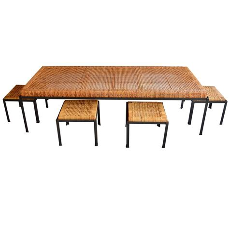 low danny ho fong table and nesting stools or coffee
