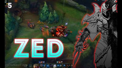 zed combo zed montage 5 zed fast combo league of legends youtube