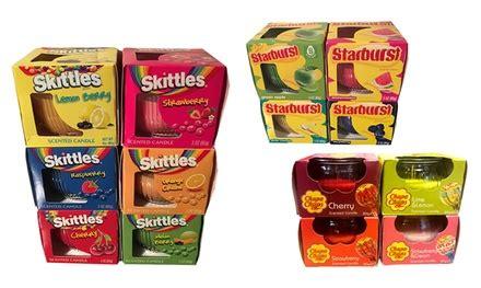 candele profumate roma 4 candele profumate skittles chupa chups e starburst