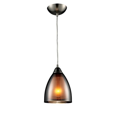 Transitional Pendant Lights Elk Lighting 10053 1 Reflections Transitional Mini Pendant Light Elk 10053 1
