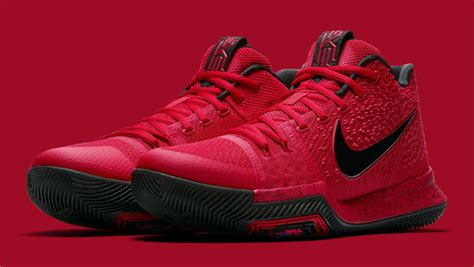 Kyrie 3 Three Point Contest kicks new nike x kyrieirving 3 point red detailed sneaker images