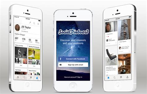 iphone app design templates social pinboard ios app template in