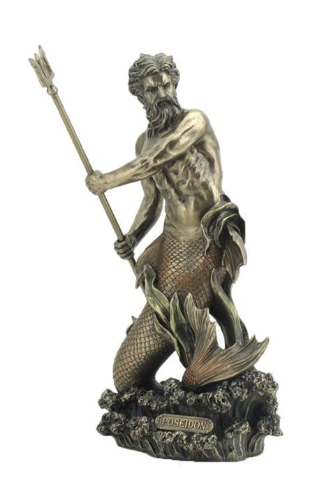 greek gods statues poseidon greek mythology roman neptune sea god merman
