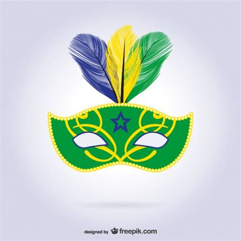 rio carnival mask vector free download