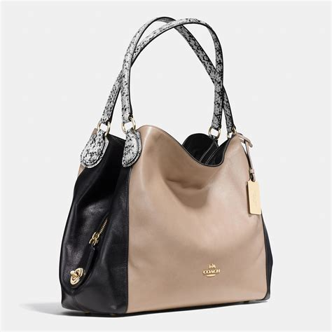 Shoulder Bag Coach coach edie 31 color blocked shoulder bag in lyst