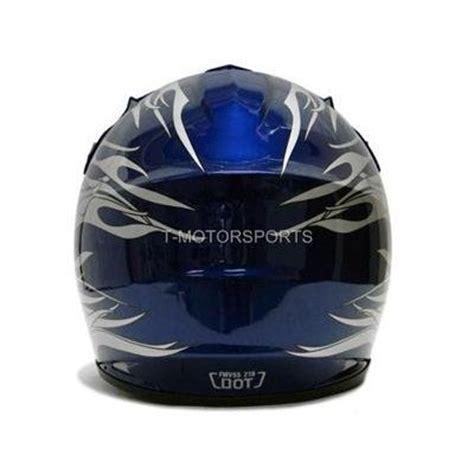 youth small motocross tms youth kids blue flame dirt bike motocross helmet atv
