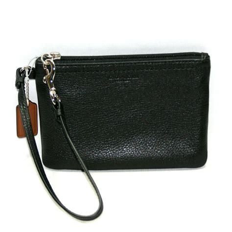 couch wristlet coach park leather small wristlet black 51763 coach 51763