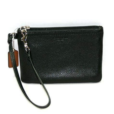 Coach Park Leather Small Wristlet Black #51763   Coach 51763