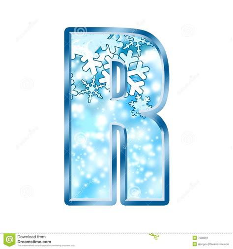 up letter with snow winter alphabet letter r stock illustration image of
