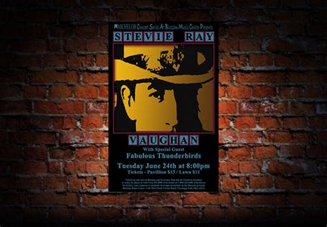 stevie ray vaughan  concert poster raw sugar art studio