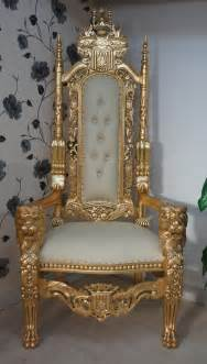 a gold king throne chair choice of fabrics with