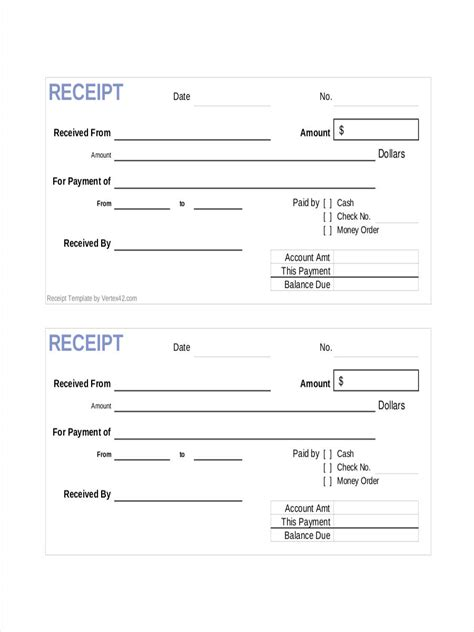 template of receipt 8 official receipts exles sles