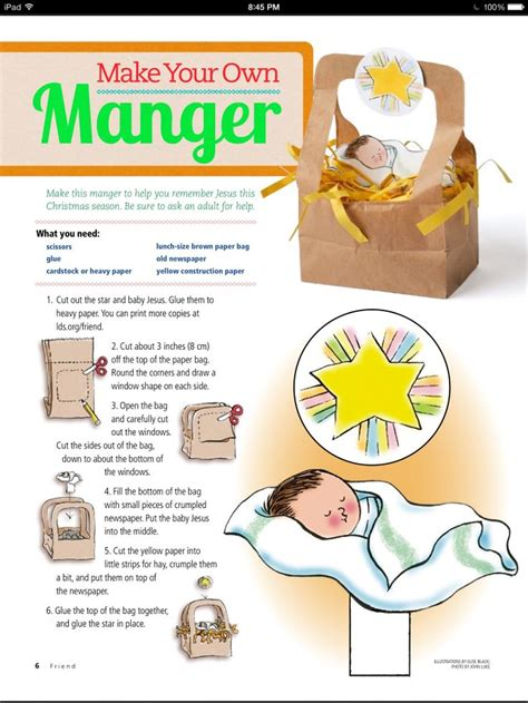 manger craft for baby jesus in a manger picture a