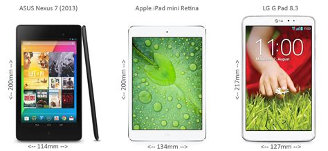 asus nexus 7 vs mini lg g pad 8 3 vs asus nexus 7 vs apple mini retina technikaffe de