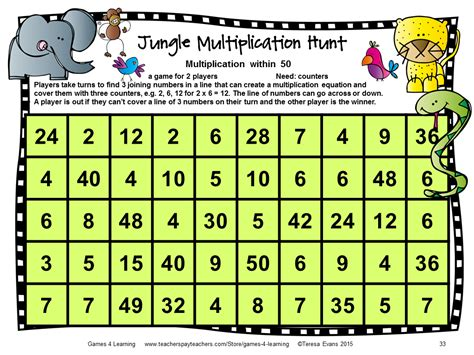 printable multiplication games year 2 fun games 4 learning monster math games makeover
