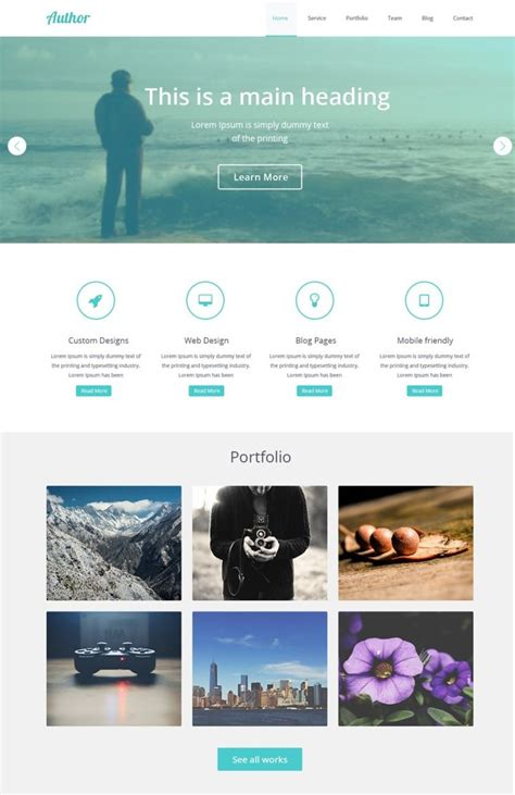 Free Templates That Can Fit With Cakephp Author Website Template