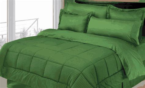 dark green bedding stripe comforter bed in a bag set dark green moshells