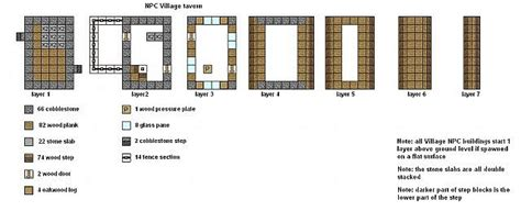 floor plans for minecraft houses minecraft floor plans npc village buildings minecraft project