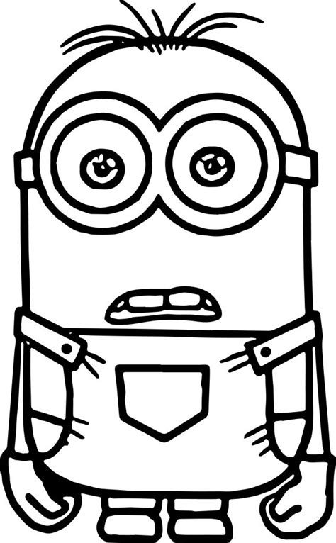 coloring pages easy to print easy simple minion coloring pages and ready to print