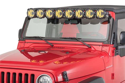 Jeep Tj Led Light Bar Kc Hilites 91312 Gravity Pro6 Led Light Bar For 97 06 Jeep Wrangler Tj Quadratec