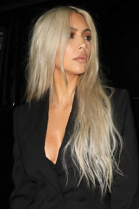 kim kardashian grey blonde hair kim kardashian s hairstyles hair colors steal her style