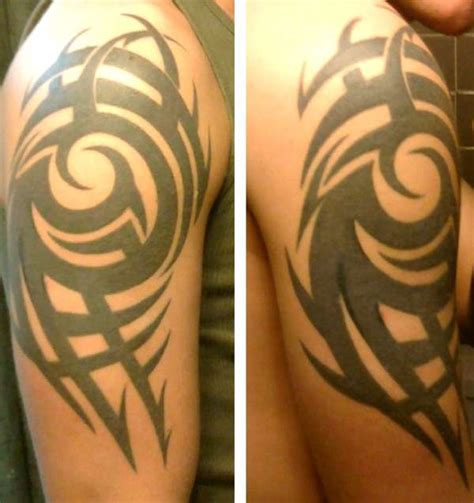 tribal tattoo right arm right upper arm tribal tattoo