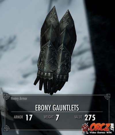 skyrim ebony gauntlet skyrim ebony gauntlets orcz com the video games wiki