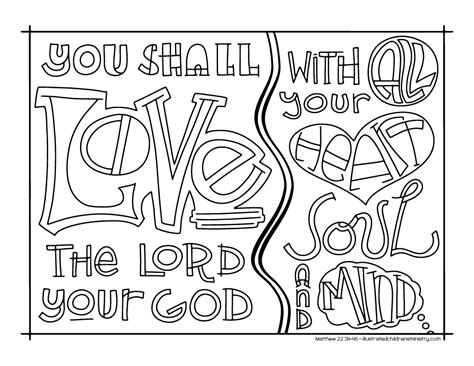 Coloring Page Matthew 22 by Bible Story Coloring Pages Rcl Year A Propers 17 22