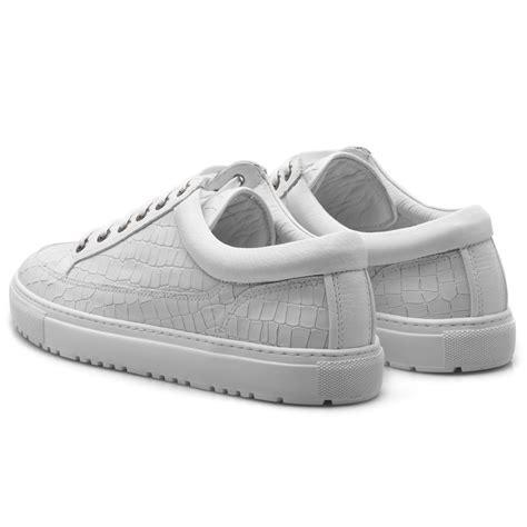 white low top sneakers etq amsterdam white croc embossed low top 2 sneakers in