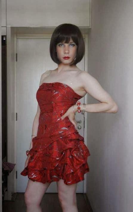 boy crossdress for prom sissy weating sister s prom dress perfect crossdresser