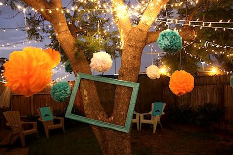 how to light up a backyard party throw a chic backyard bash summer party decoration inspirations