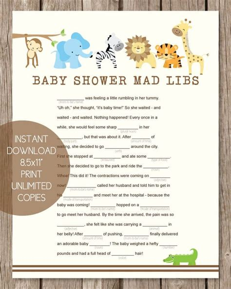 Baby Shower Mad Libs by Best 25 Jungle Baby Showers Ideas On Jungle