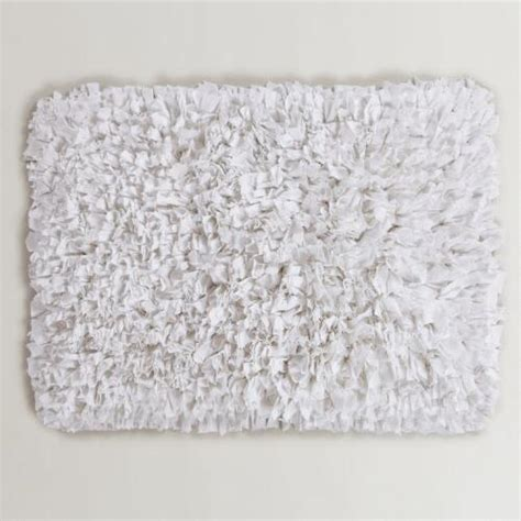 White Bath Mat by White Jersey Shag Bath Mat World Market