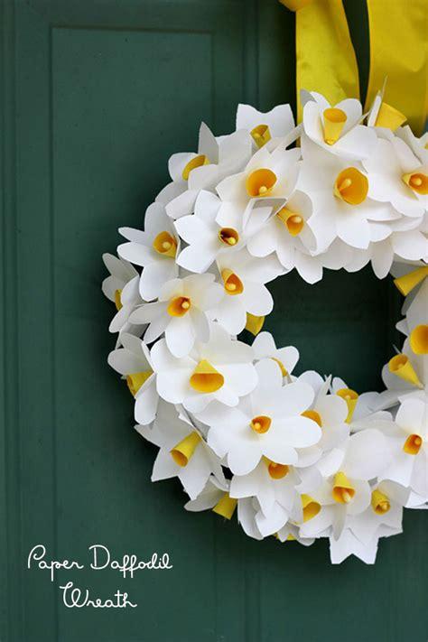 Origami Baket Bunga paper daffodil wreath pars caeli