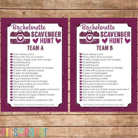 Bachelorette Photo Scavenger Hunt Game Mygrafico Mygrafico Wedding Pinterest Shops Wedding Photo Scavenger Hunt Template