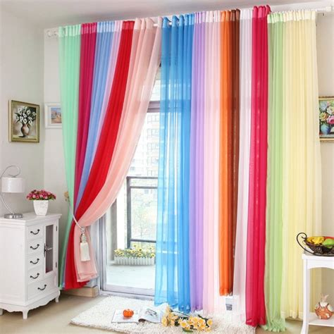 colorful sheer curtains miscellaneous window treatments ideas for living room